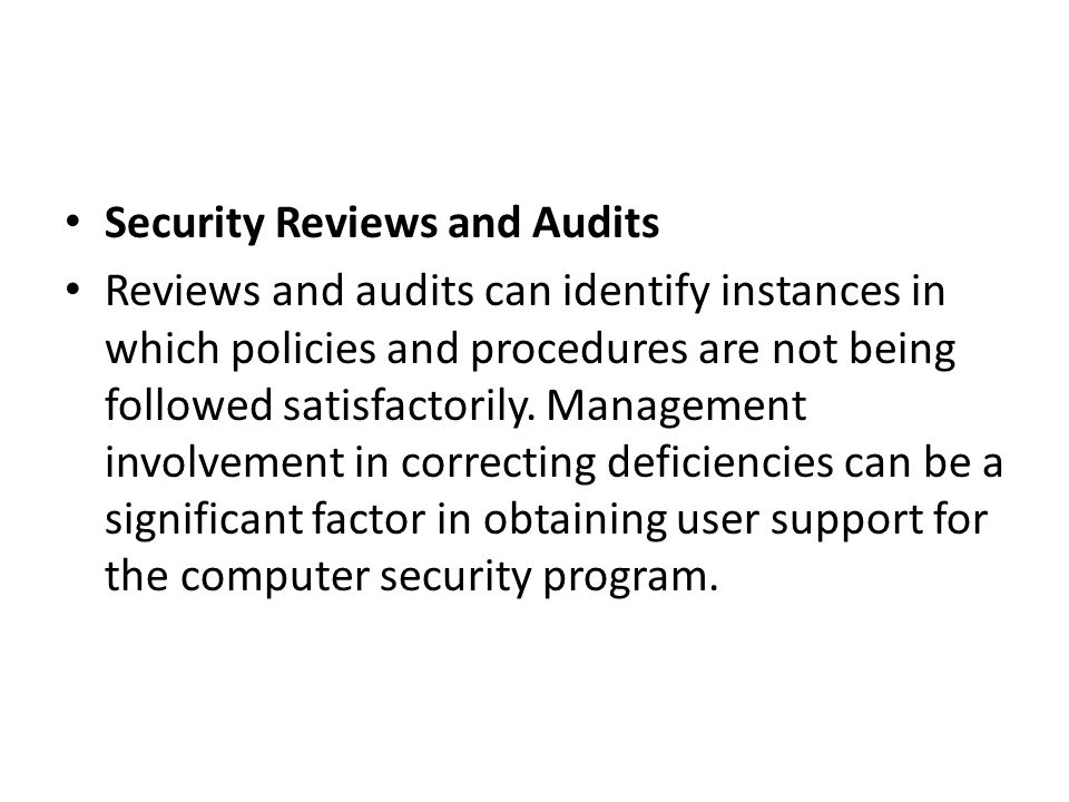 Security Reviews and Audits