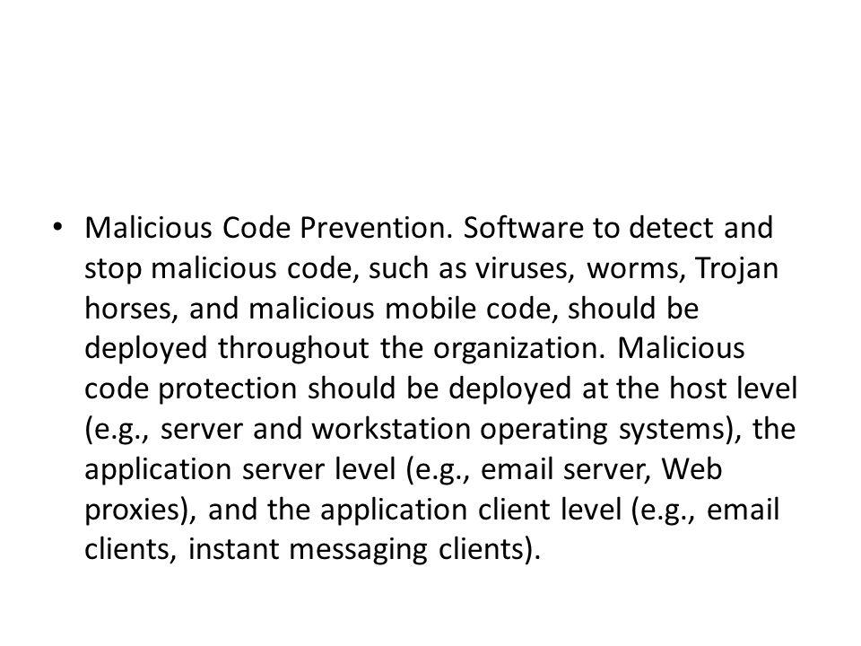 Malicious Code Prevention