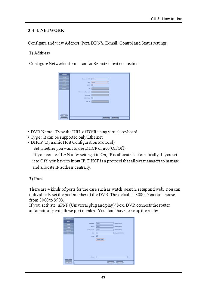 Configure Network information for Remote client connection