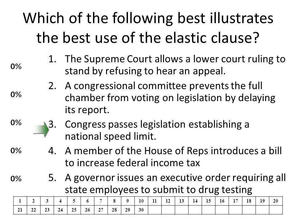 Which of the following best illustrates the best use of the elastic clause