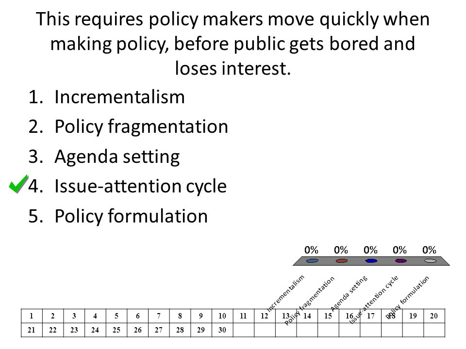 Issue-attention cycle Policy formulation