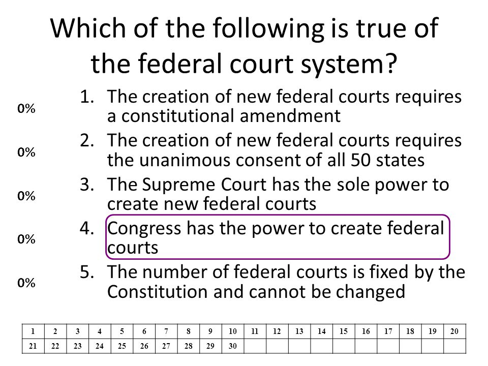 Which of the following is true of the federal court system