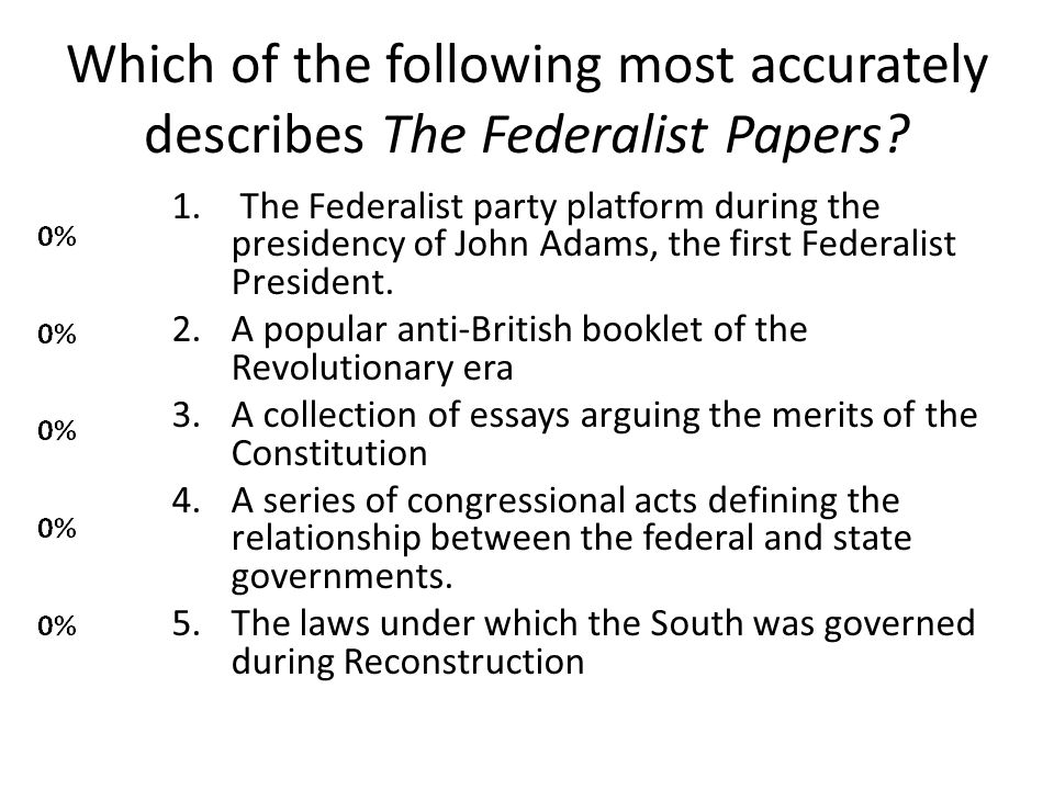 Which of the following most accurately describes The Federalist Papers