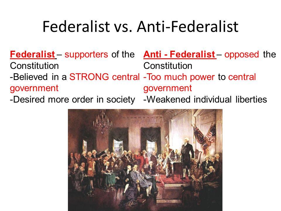 Federalist vs. Anti-Federalist