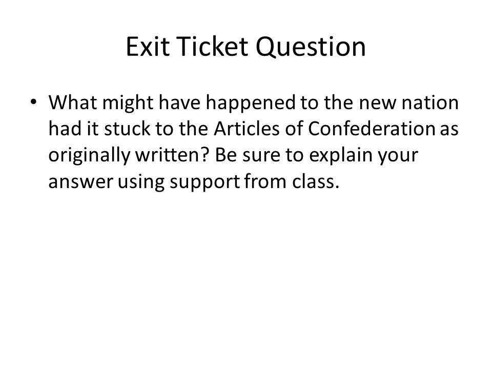 Exit Ticket Question