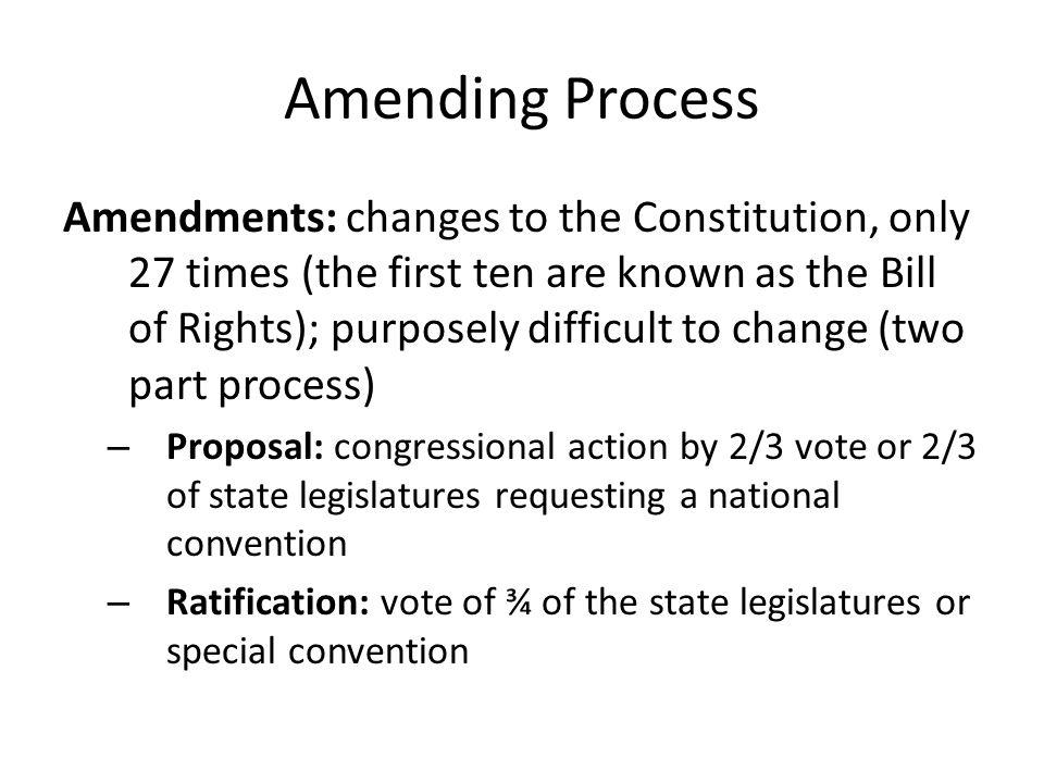 Amending Process