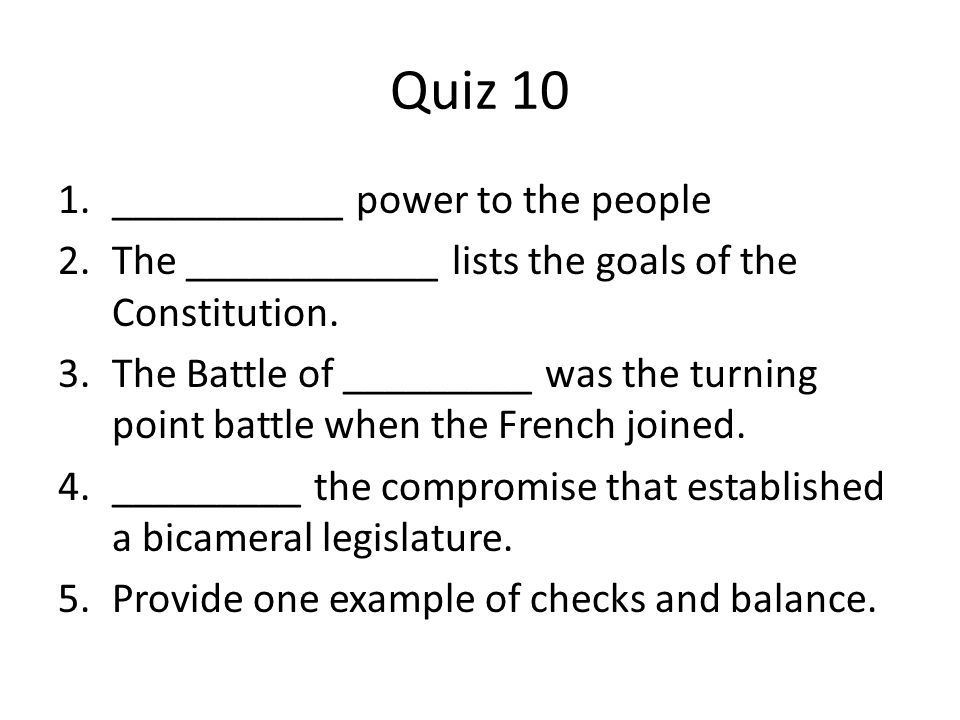 Quiz 10 ___________ power to the people