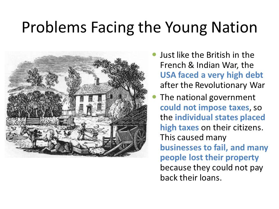 Problems Facing the Young Nation