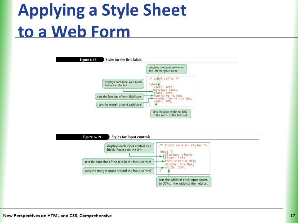 Applying a Style Sheet to a Web Form