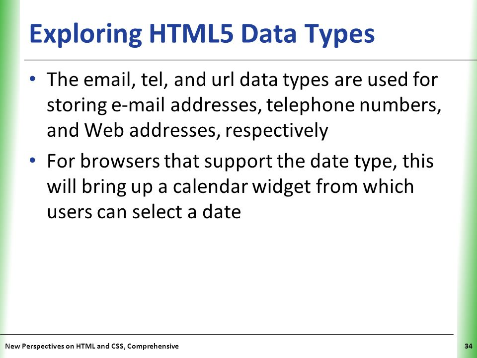 Exploring HTML5 Data Types