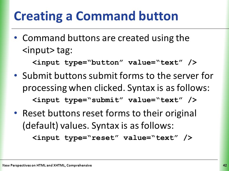 Creating a Command button