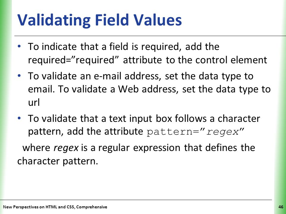 Validating Field Values