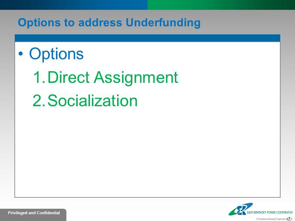 Options to address Underfunding