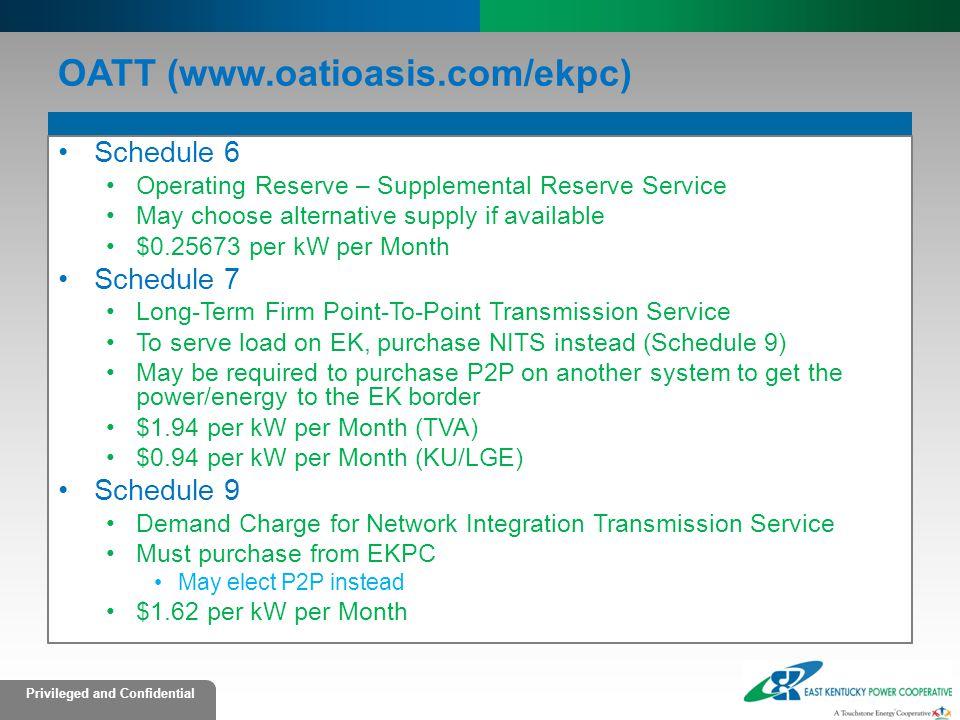 OATT (www.oatioasis.com/ekpc)