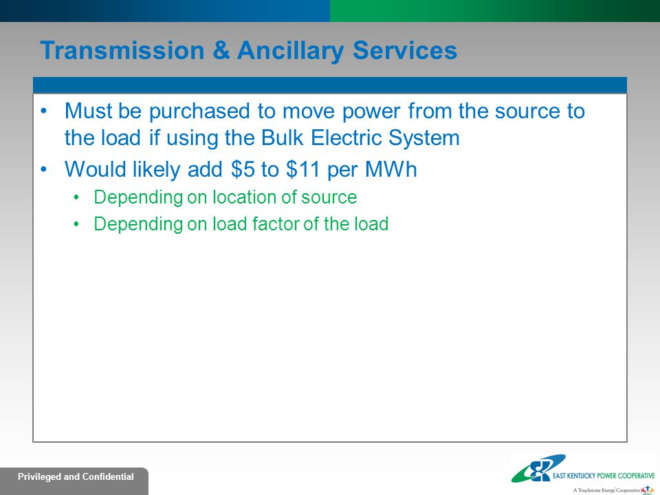 Transmission & Ancillary Services