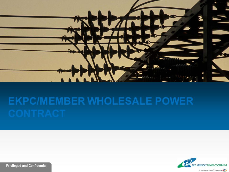 EKPC/member Wholesale power Contract