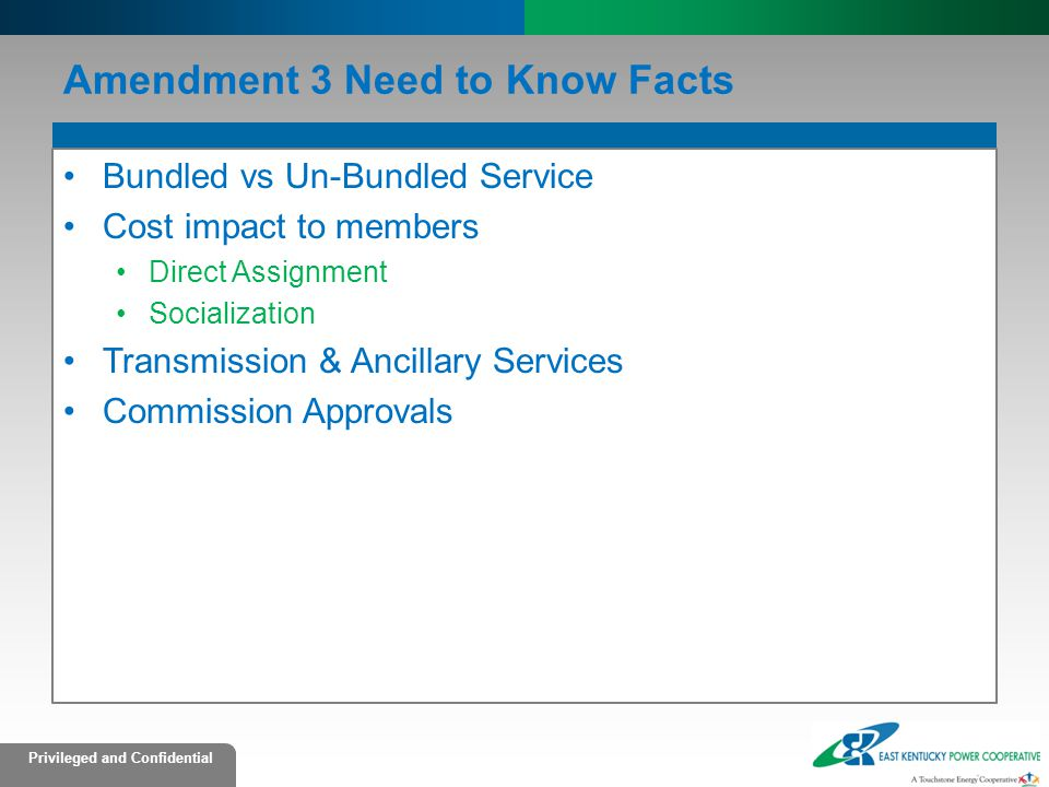 Amendment 3 Need to Know Facts