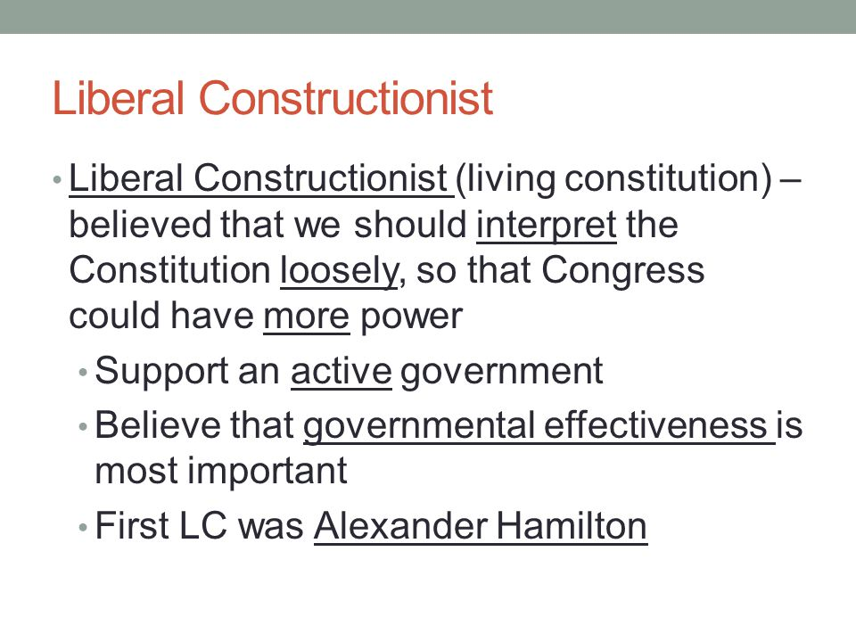 Liberal Constructionist