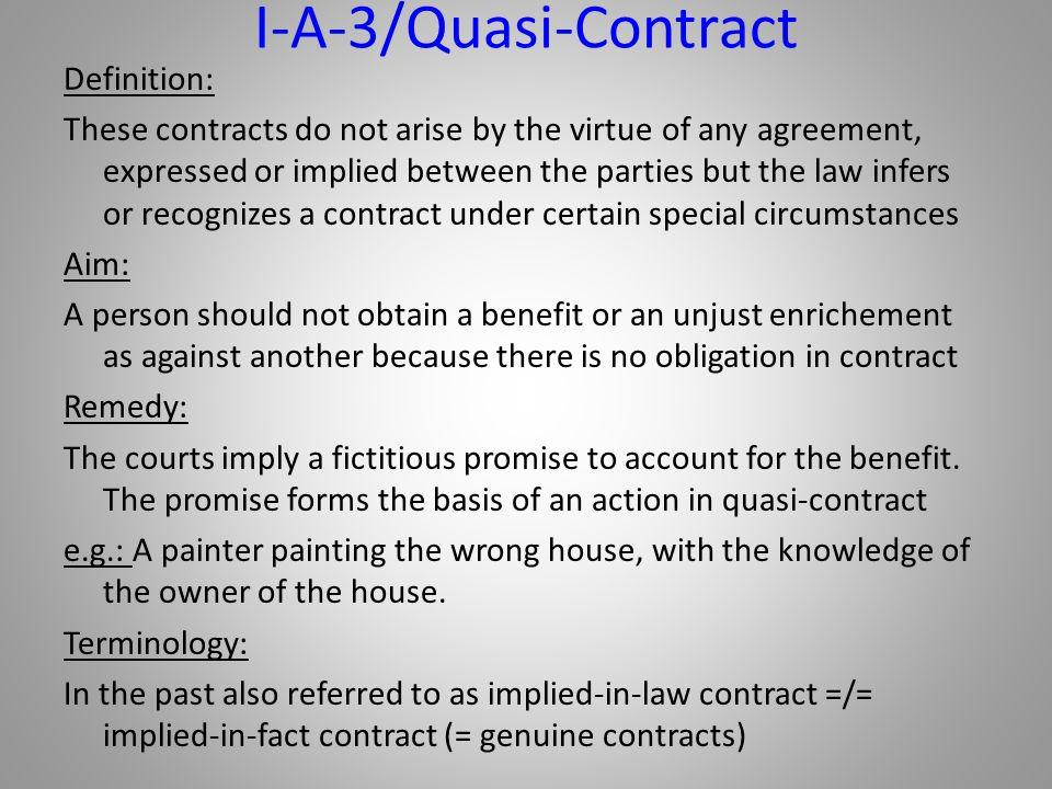 I-A-3/Quasi-Contract