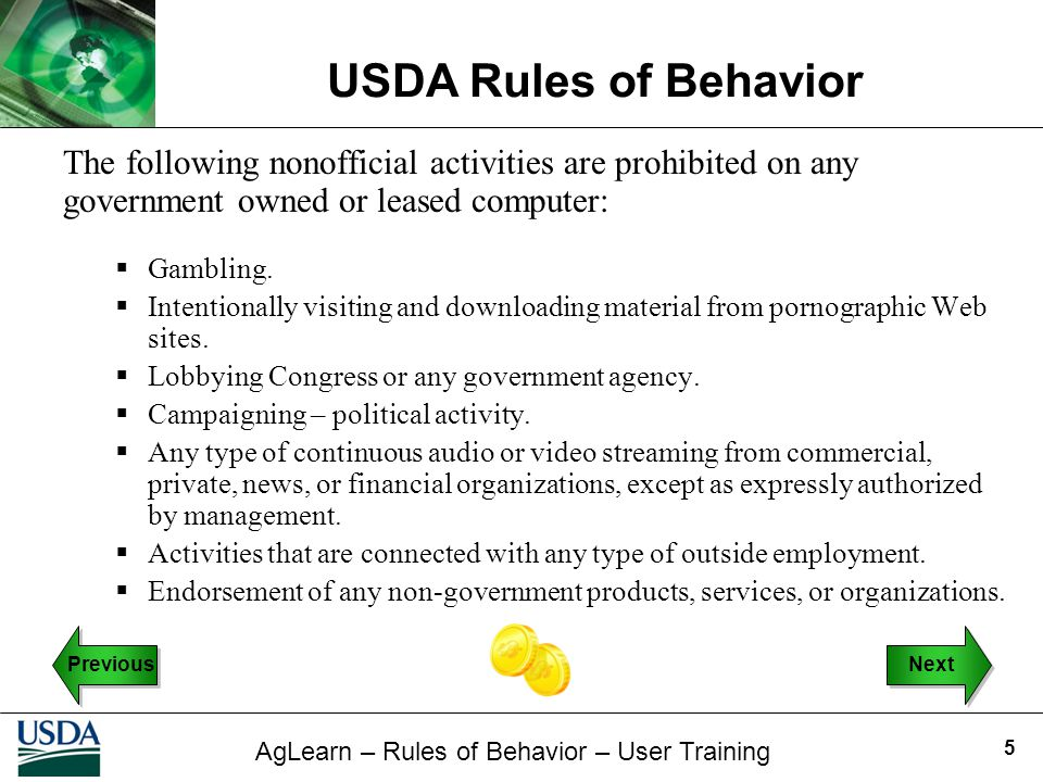 The following nonofficial activities are prohibited on any government owned or leased computer:
