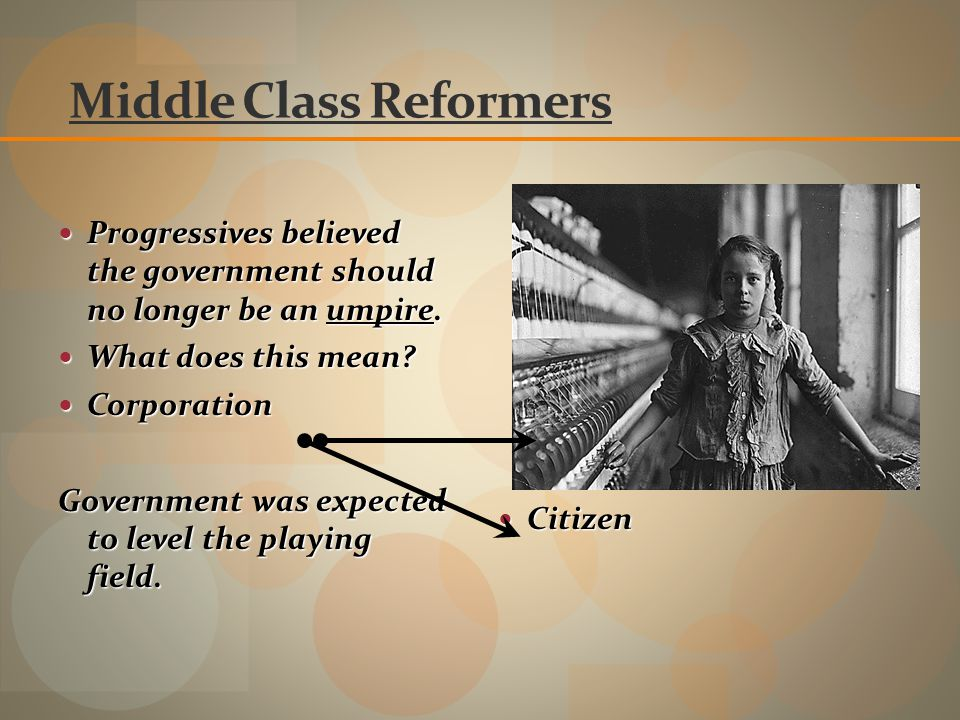 Middle Class Reformers