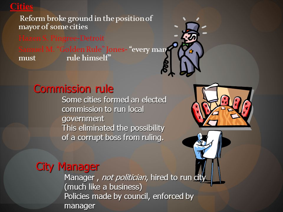 Commission rule City Manager Cities