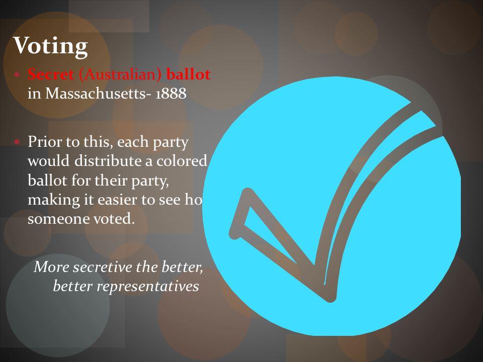 More secretive the better, better representatives