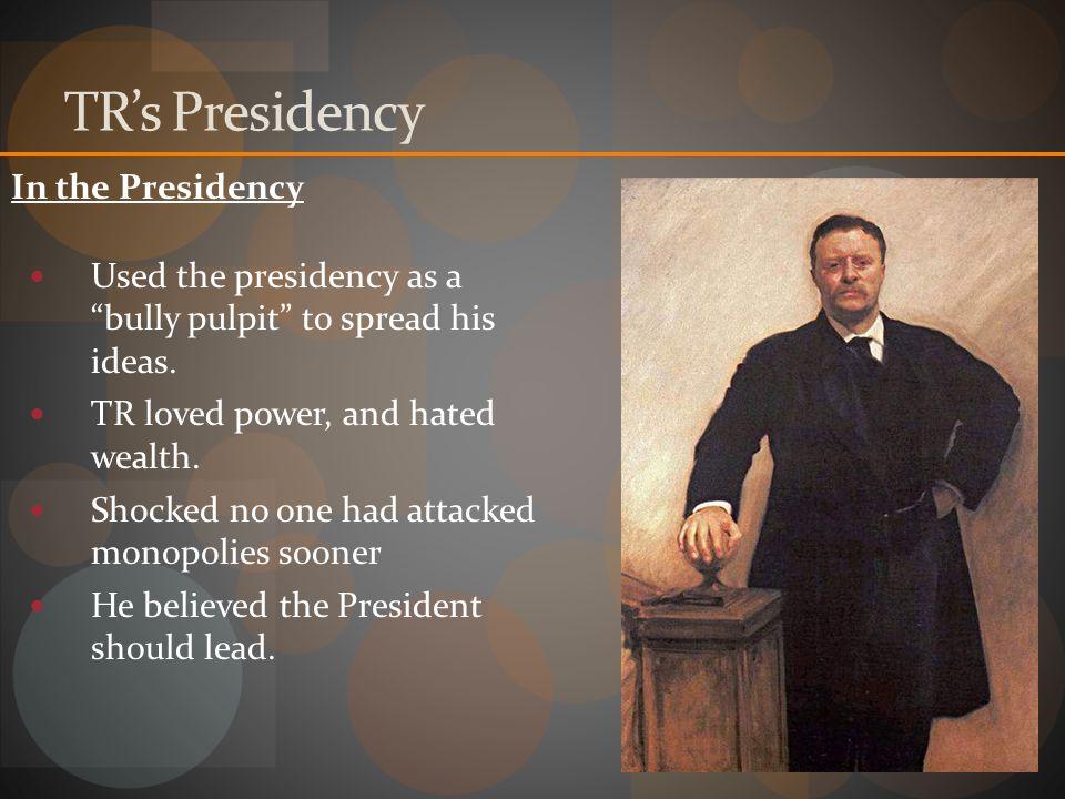 TR's Presidency In the Presidency