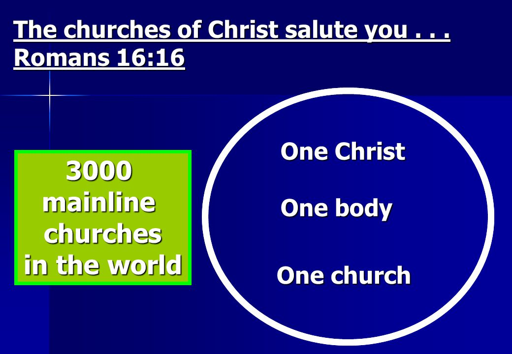 3000 mainline churches in the world