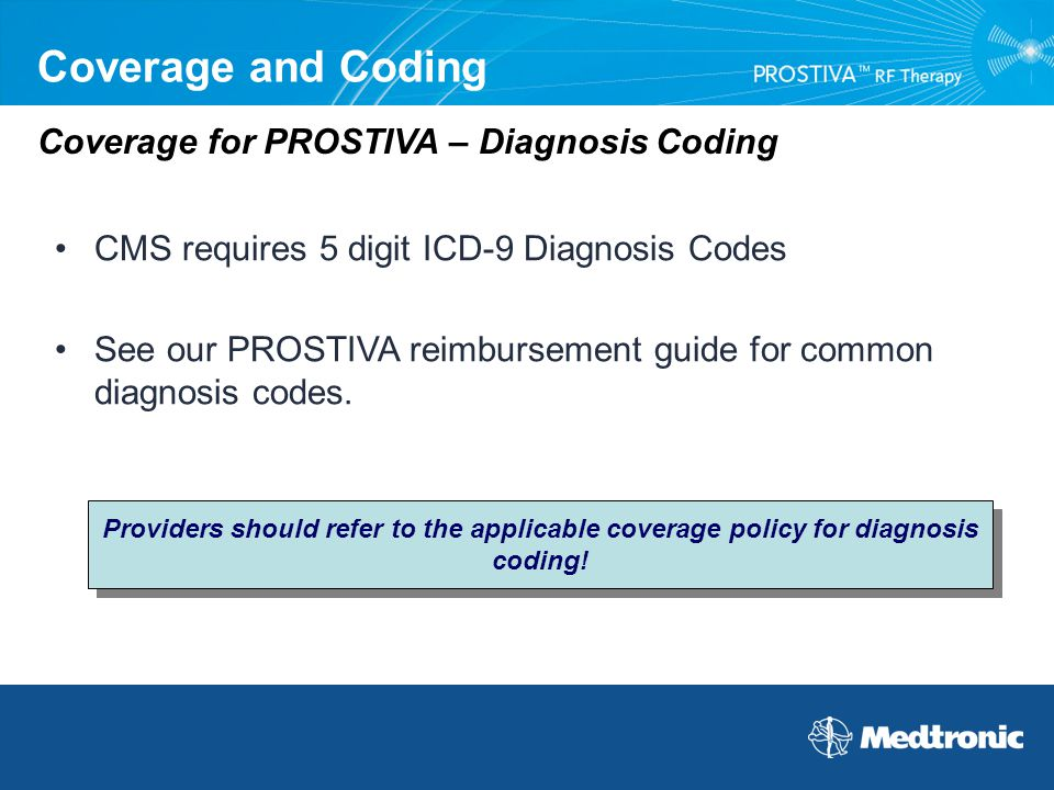 Coverage and Coding Coverage for PROSTIVA – Diagnosis Coding