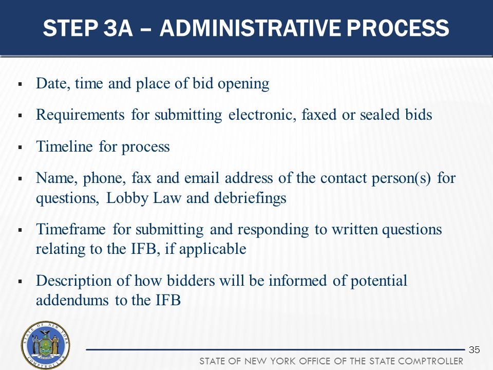 Step 3A – administrative process