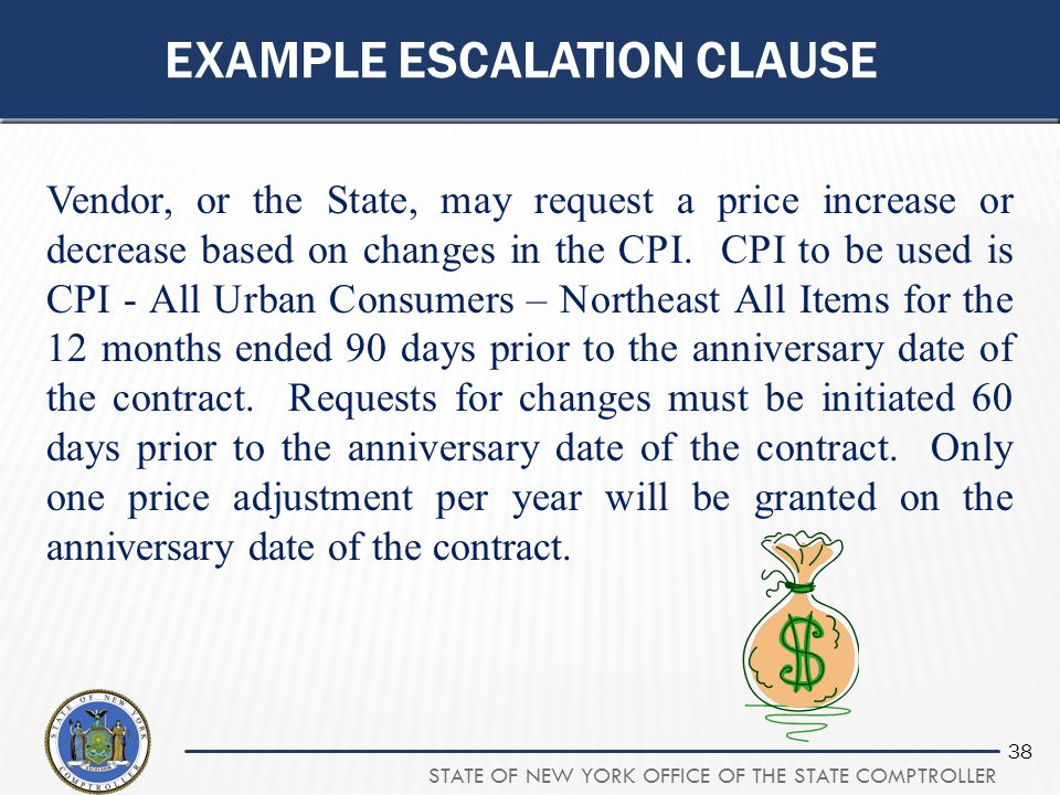 Example escalation clause
