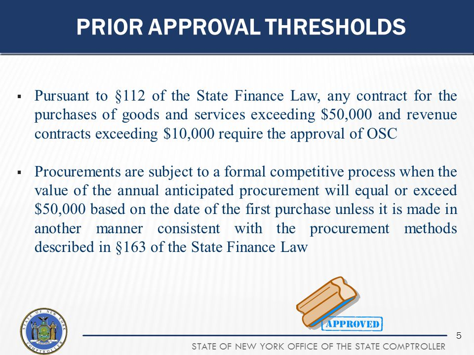 Prior Approval thresholds