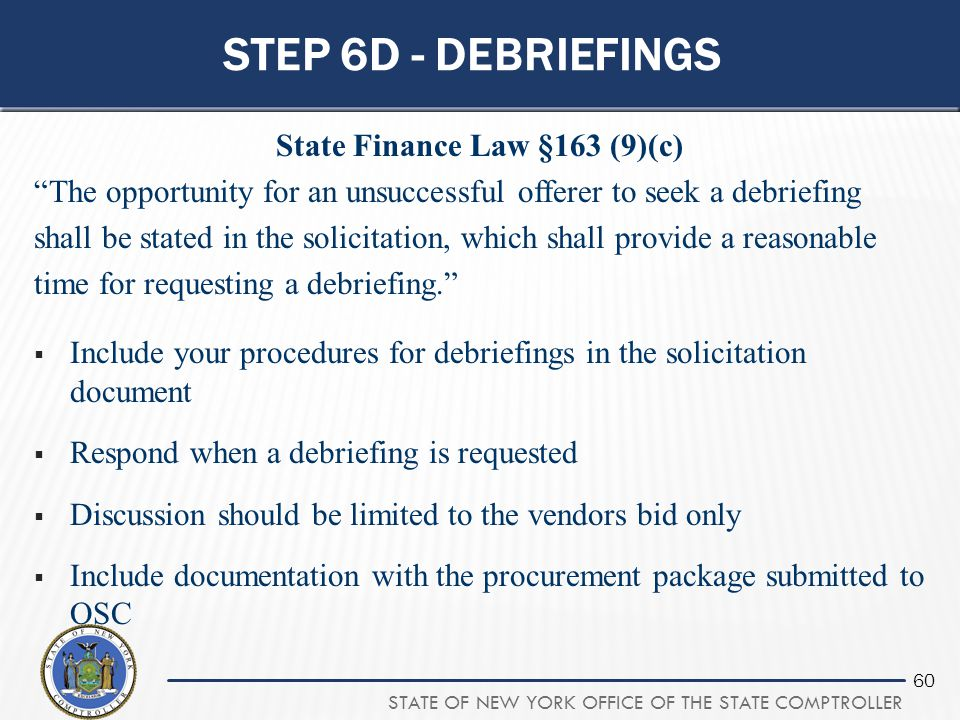 State Finance Law §163 (9)(c)