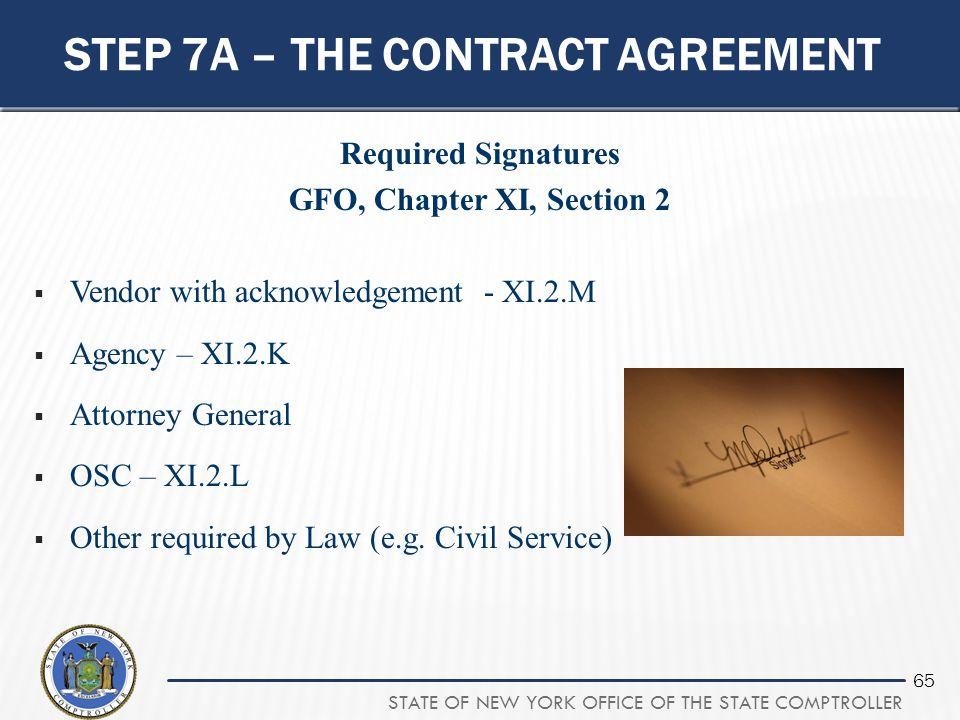 Step 7a – the contract agreement