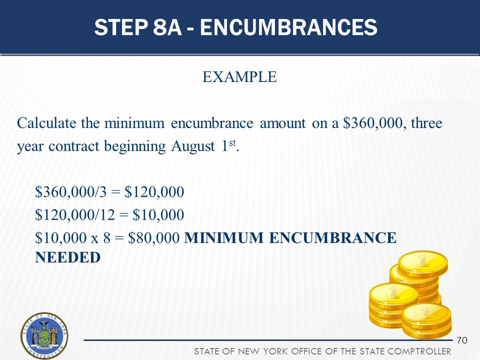 Step 8a - encumbrances