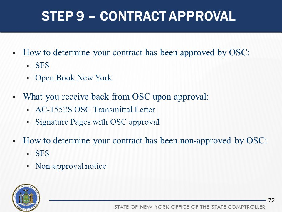 Step 9 – Contract Approval