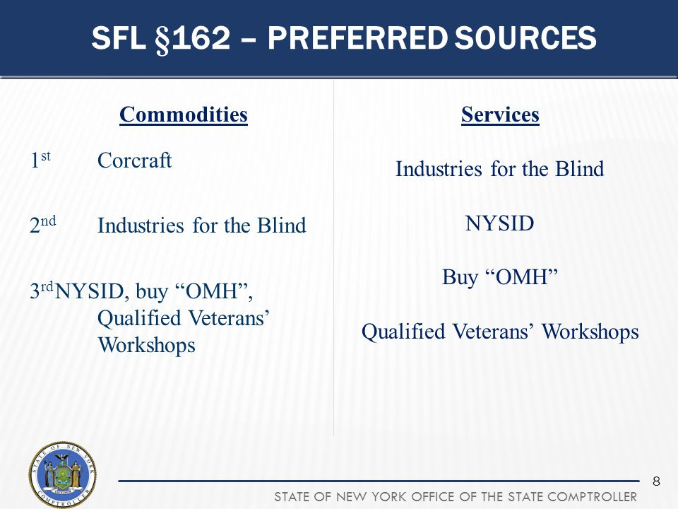 Sfl §162 – preferred sources