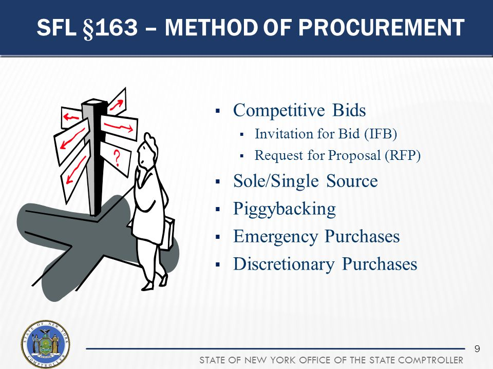 Sfl §163 – method of procurement