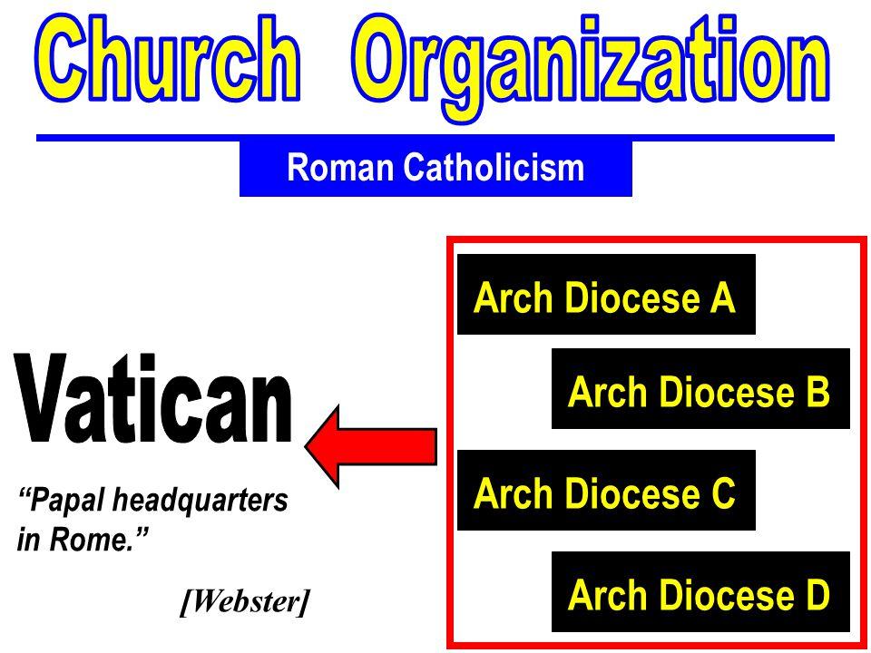Church Organization Arch Diocese A Vatican Arch Diocese B
