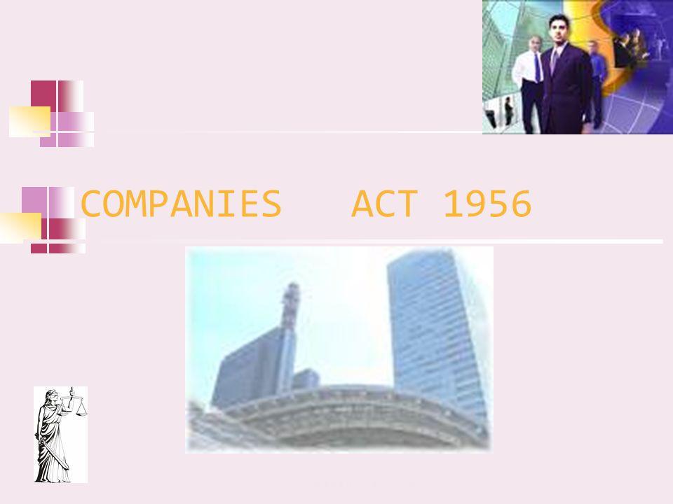 COMPANIES ACT 1956 Companies Act 1956