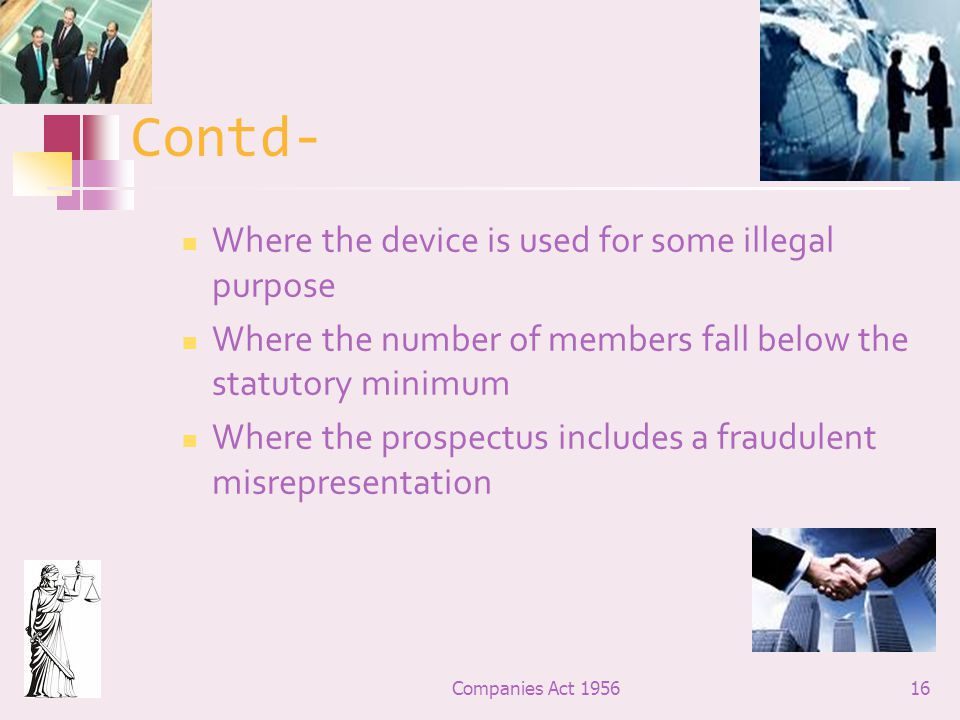 Contd- Where the device is used for some illegal purpose