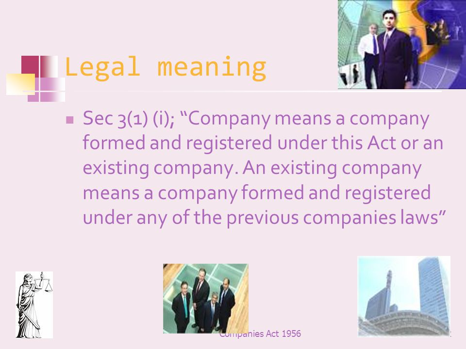 Legal meaning