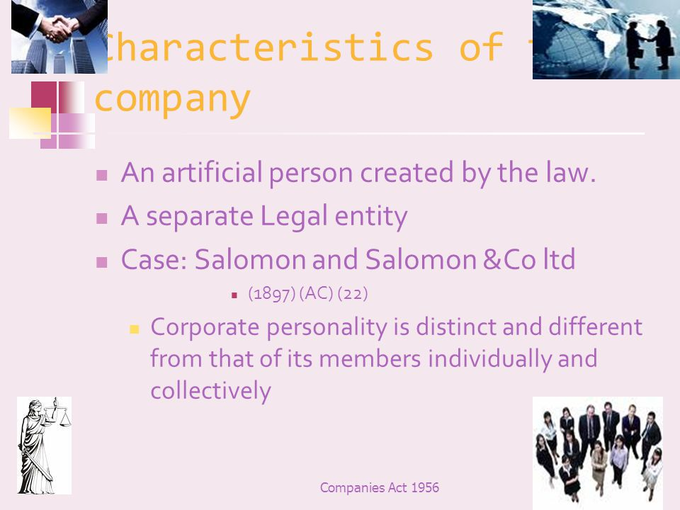 separate corporate personality 2write includes extensive database of report writing samples explaining about solomon v solomon & co ltd (1895-99) introduction human beings are generally legal person but humanity is a state of nature and legal personality is an artificial construct, which may or may not be conferred.