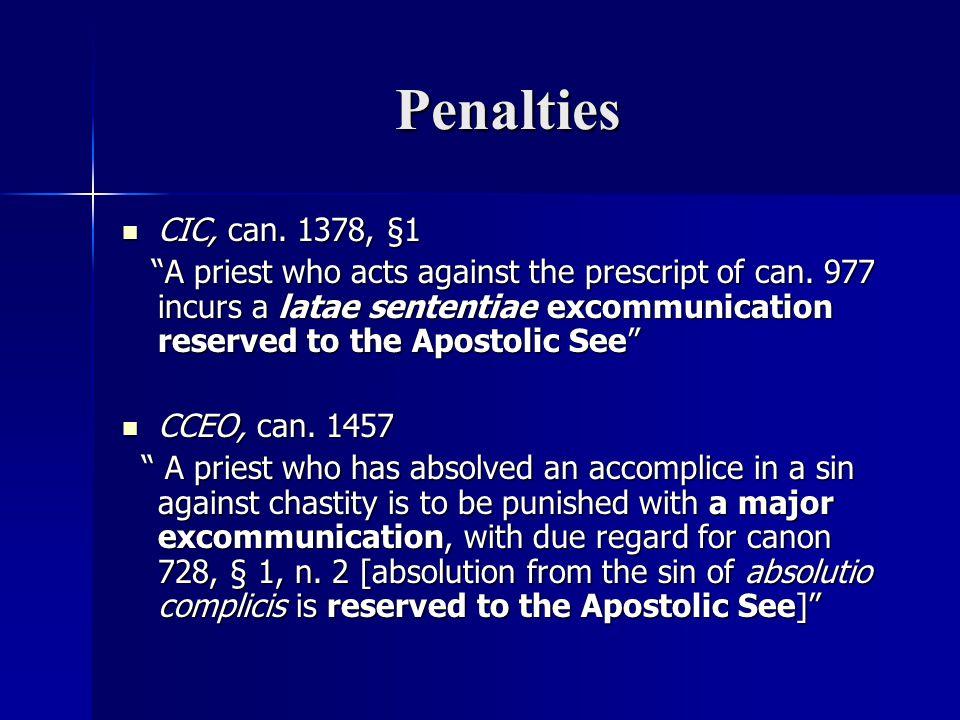 Penalties CIC, can. 1378, §1.