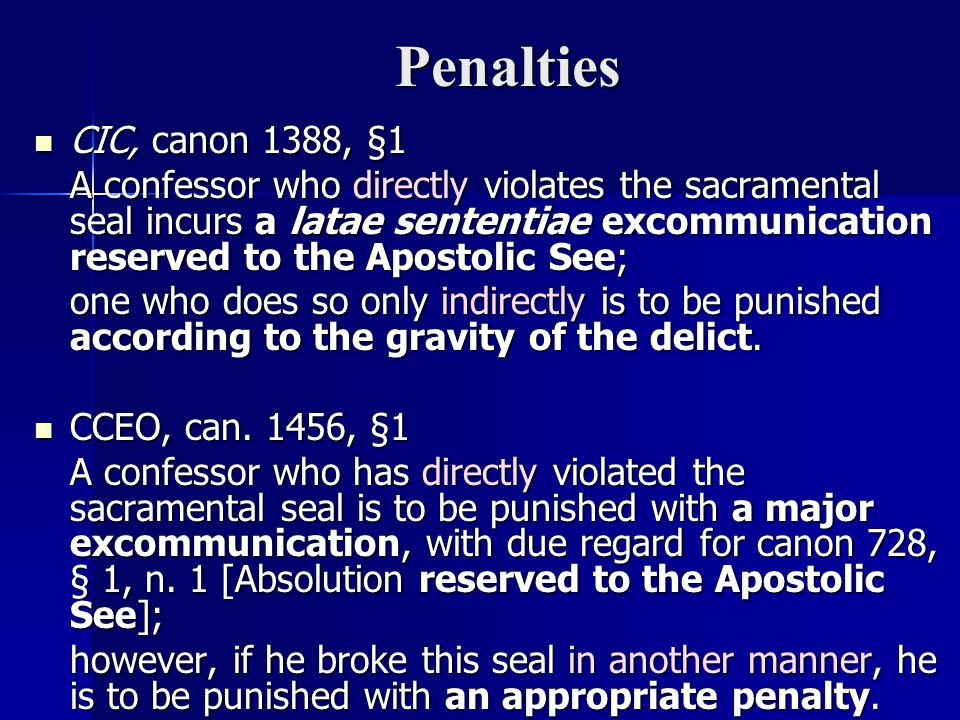 Penalties CIC, canon 1388, §1.