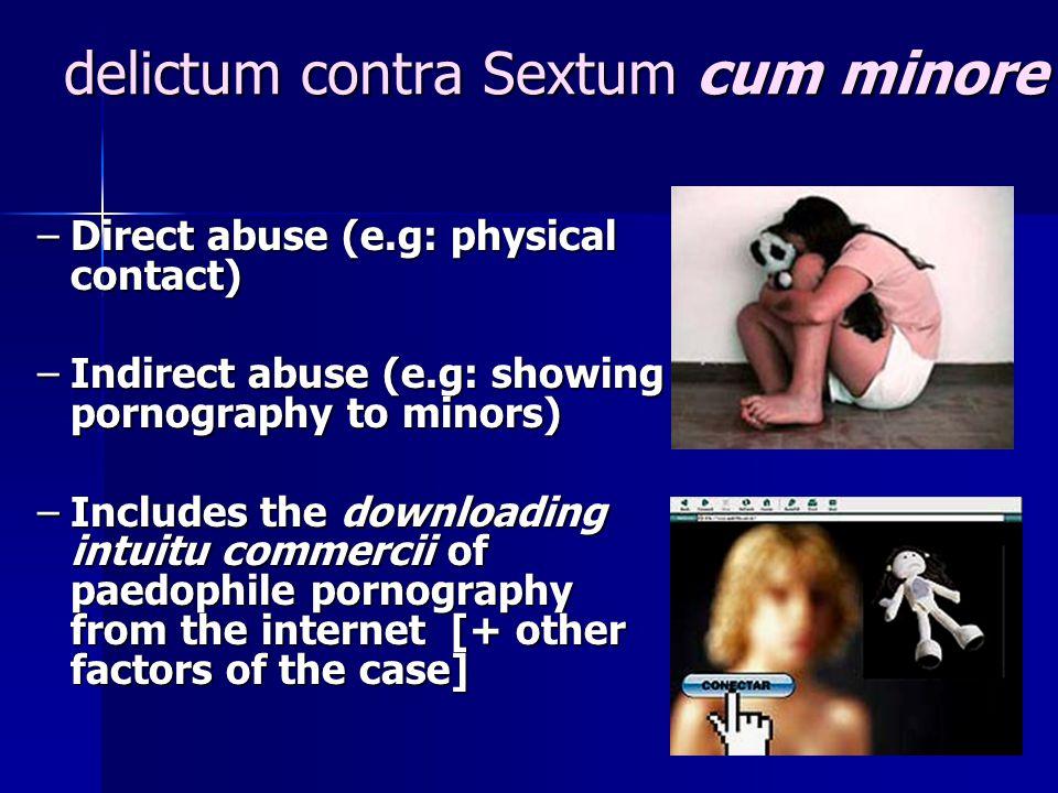delictum contra Sextum cum minore