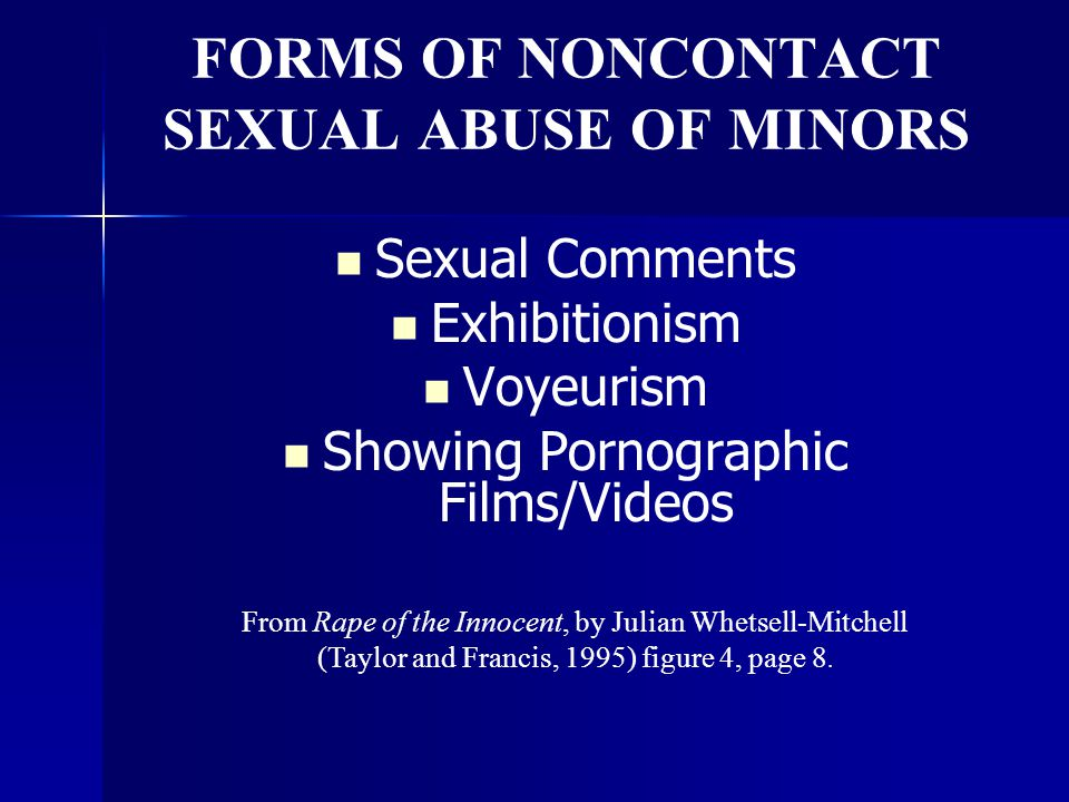 FORMS OF NONCONTACT SEXUAL ABUSE OF MINORS