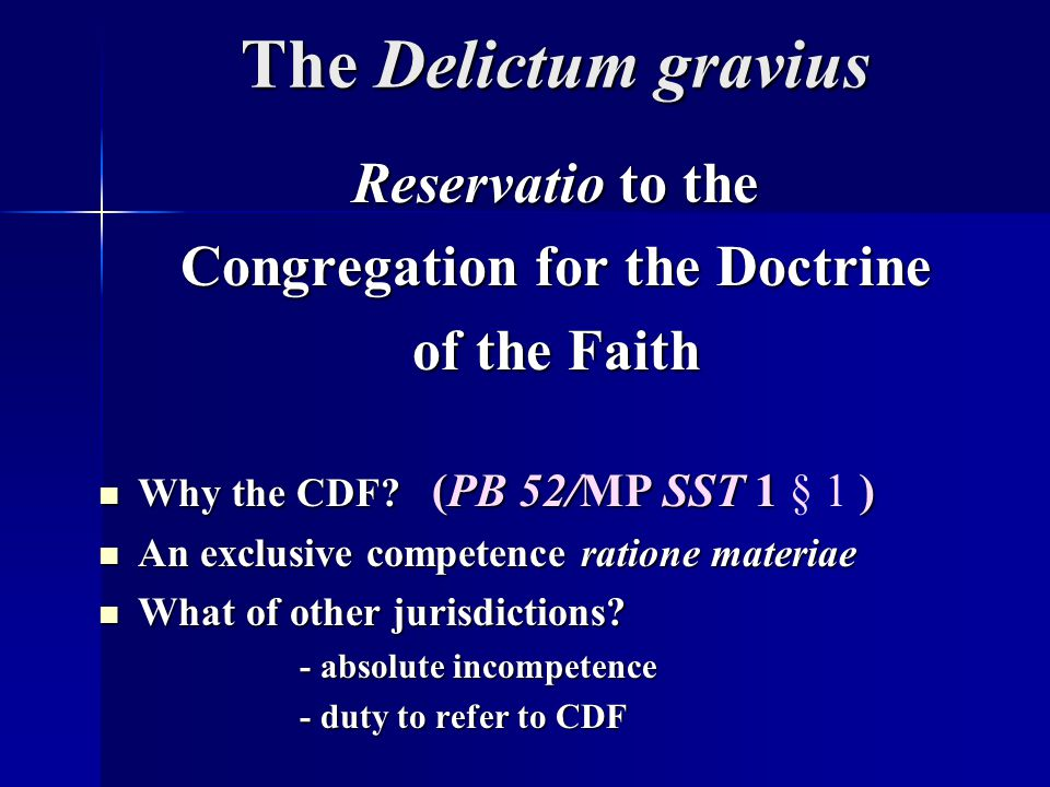 Congregation for the Doctrine
