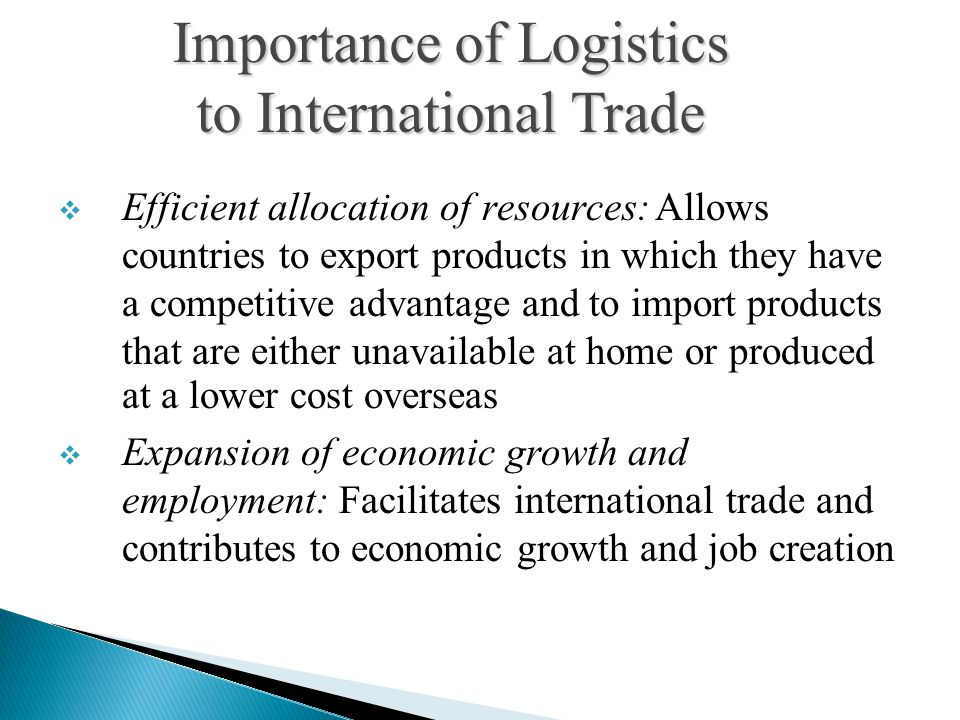 Importance of Logistics to International Trade